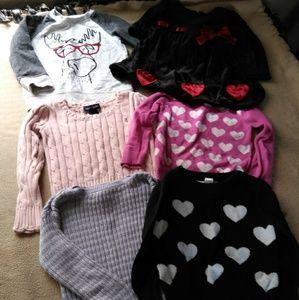 Toddler Girl's Sweater Lot